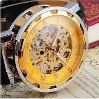 Winner Montre Homme Skeleton Automatique Mécanique Montre Gold Vintage Watchskeleton Montre Hommes Top Luxe