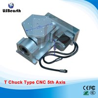 Wholesale T chuck type CNC axis for cnc router cnc milling machine A aixs Rotary axis