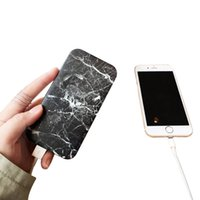 Wholesale Power Bank mah Marble Vein Design Battery Charger Emergency Power Chargers For Iphone7 Samsung Google Universal Bank With Retail Package