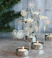 Wholesale Metal Rotary Candle Holder Christmas Candle Holder
