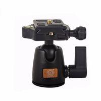 Wholesale QZSD Q01A Aluminum Tripod Monopod Ball Head With Quick Release Plate Two levels Max Load KG For Canon Sony Nikon DSLR Camera
