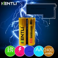 battery self discharge - kentli AA V ultra low self discharge lithium li ion rechargeable battery for wireless mouse flightlight etc