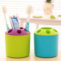 Wholesale Creative household toothbrush rack multi purpose plastic toothbrush tube multi functional toothbrush case