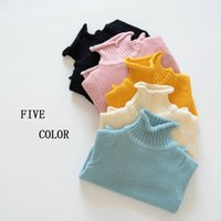 Cheap 2017 new winter children's children's multi-color high-necked pullover sweater plus thickened baby sweater