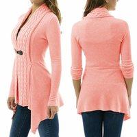 Vente en gros BornToGirl Mode Cardigan tricoté chandails Femmes Printemps manches longues élastique noir Gris Cardigans rose