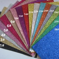 Wholesale A4 size cm cm T001 colour sample fine glitter fabric material for christmas diy bow