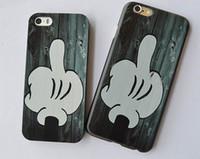al por mayor cubierta del iphone 4s cáscara dura-Funda negra resistente a rayones de la mano negra original divertida del dedo medio para el iPhone 6 6s 6Plus 4s 5c 5s Cuerda protectora del teléfono del SE 6sPlus