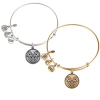antique gold filigree - Mic key Filigree Bangle by Alex and Ani new style Antique gold and silver popular Pure copper bracelet