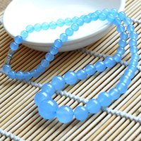 Wholesale 100 handmade mm aquamarine jade beads noble gorgeous Can collect tower necklace AAA