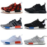 Wholesale 2016 Hot Sale Chaep NMD Runner Primeknit Shoes superstar Sneakers Casual shoes Men S Running Shoes Kids Size black