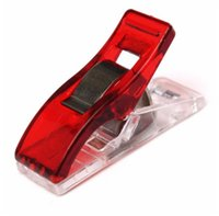 Wholesale 50Pcs Red Plastic Wonder Clips Holder for DIY Patchwork Fabric Quilting Craft Sewing Knitting Tool Parts