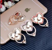 al por mayor 5s oro-Para el anillo de dedo del sostenedor 360 del teléfono para el iphone 5s 6 4S 5c 6s 7 más el soporte móvil magnético del diamante de oro de lujo para la galaxia s6 de Samsung s8 s7 Regalo