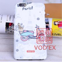 apple iphone paris - Vodex cases small fresh Paris style apple water paste mobile phone shell embossed D feel iPhone7 p p
