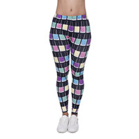 ankle nail - Girl Leggings Nail Polish D Graphic Print Skinny Stretchy Yoga Casual Trousers J40570
