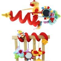 achat en gros de bébé tentures jouets mou-Baby Rattles Toys Animal Peluche Jouet Super Soft Multifonctionnel Lit Crib Hangings Kids Toy Pour Noël Cadeau