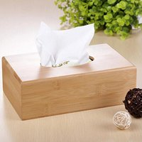 bamboo napkin holder - New Rustic bamboo tissue box cover wood drawer Quality flip type home decoration vintage napkin holder for paper towels S401