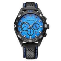 auto boys - RISTOS Mens Boys Sports Watch Quartz Calendar Watches Chronograph Wristwatch Leather Watchband WHLSS013 WHLSS014
