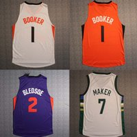 Wholesale NEW high quality BOOKER BLEDSOE MAKER Running Jerseys Embroidery Logo With Name Mix order new fabrics retro Jerseys