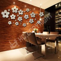 acrylic art gallery - 14pcs D Mini Round Plum Flowers Mirror Acrylic Wall Sticker DIY Decals Sticker Wall Mural Girls Room Cafe Decor Art Gallery