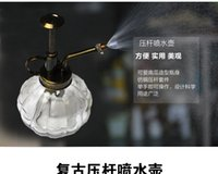 Wholesale Potted meat more gardening barometric watering pot watering pot watering pot atomizer glass watering can restore ancient ways bag mail