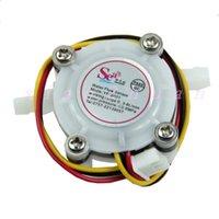 Wholesale pc Water Coffee Flow Sensor Switch Meter Flowmeter Counter L min New