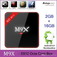 Wholesale 2017 M9X Amlogic S912 TV Box Octa Core GB GB Android Marshmallow G WIFI M LAN K Kodi Media Player p