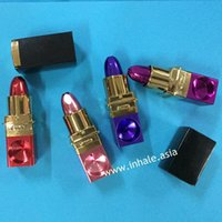 Wholesale Magic Gift For Woman Portable secret Metal Lipstick Pipe for smoking LSP