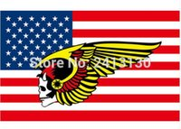american flag banners - 3x5ft New MC Hells Angels Motorcycle flag American banner D Polyester Flag with metal Grommets