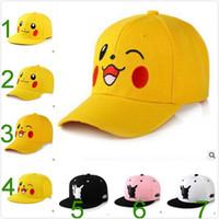 Wholesale 2017 Style Adult Poke Hat Adult Pikachu Couple Fashion Hip Hop Hat Adult Fashion Cartoon Hat