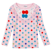 assure pink - Pink dot cute girl long sleeve Baby s favorite Mother to buy the rest assured that children with Long sleeve T shirt for girls Pure cotton