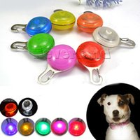 Collars bell push switch - Bright Dog Pet LED Night Safety Flash Light for Collar Push Button Switch