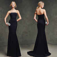 Wholesale Sexy black long PROM dresses new style strapless mermaid sweetheart mermaid gowns with ball gown The beauty of the evening dress