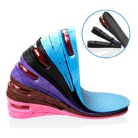 adjustable height insoles - New Layer cm Height Adjustable Increase Unisex Insole Taller Shoes Pad Air Cushion Lift Shoe Pads For Men Women Comfortable ZA1612
