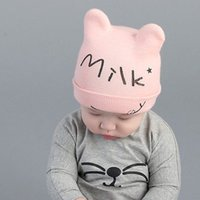 baby milk yarn - Cheap Baby Kid s Knit Hats Milk Baby Knitted Hats Baby Beanies Hats Winter Years Old Children Girls Boy Wool Warm