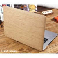 Wholesale WOOD GRAIN PU Leather Case For Mac book Air Pro Retina13 inch cover case laptop bag case For Apple Macbook