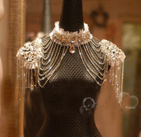 Wholesale 2016 Luxurious Crystal Rhinestone Jewelry Bridal Wraps White Lace Wedding Shawl Jacket Bolero Jacket Wedding Dress With Beaded