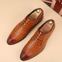 bespoke dress shoes - glossy dress bespoke men shoes luxury brand retro italian comfort topsiders footwear flats braided leather oxford shoes for men