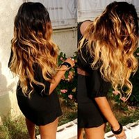 Wholesale Remy Peruvian Body Wave Blonde Ombre Glueless Full Lace Wigs Ombre Lace Front Wig With Baby Hair
