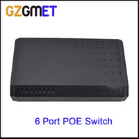 Wholesale 6 Ports S POE power Ports DC Desktop Fast Ethernet splitter p2p Network IP Cameras Powered POE Adapter switch