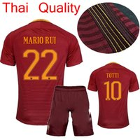 Wholesale 2016 AAA Thailand the best quality jersey romas jersey Totti De Rossi romes football clothes