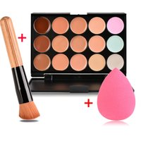 Wholesale New Brand Women Waterproof Makeup Foundation Multi Colors Options Face Foundation Makeups Puff Brush Set