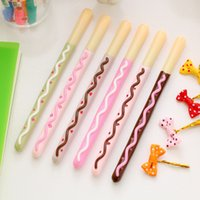 Wholesale Chocolate stick lapices gel pen Sweet mm black gel ink pens Stationery Caneta Office material school supplies
