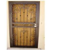 Wholesale Wrought Iron Entry Door Exterior French Door Martial Building