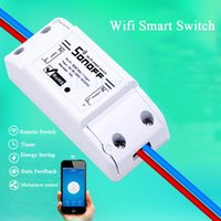 Wholesale Itead Sonoff Wireless Switch Universal Smart Home Automation Module Timer Diy Wifi Switch Remote Controller Via IOS Android