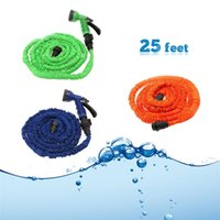 Wholesale US Stock Latex Feet Expanding Flexible Garden Water Hose with Spray Nozzle Colors