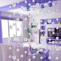 Wholesale Sheer Curtains meters Crystal bead curtain For living room partition renovation Festive fashion wedding decoration cur