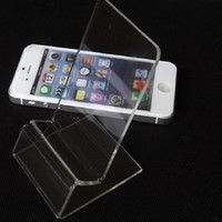 acrylic mobile phone holder - DHL fast delivery Acrylic Cell phone mobile phone Display Stands Holder stand for inch iphone samsung HTC