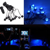 Wholesale 10 in V Car Atmosphere Blue Lights Auto Led Interior Lamp Decorative Bulb on Floor Dash CLT_20L