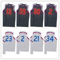 Wholesale New All star basketball jerseys stitched Men s SC KD JH CL LBJ KL JE GA jerseys