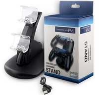 XBOX ONE PS4 controlador inalámbrico Charger Dock LED USB dual cargador soporte de montaje xbox uno ps4 gamepad playstation 2 cargadores USB con caja